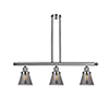 This item: Small Cone Polished Nickel Three-Light LED Island Pendant with Smoked Cone Glass