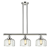 This item: Large Bell Polished Nickel Three-Light LED Island Pendant with Clear Dome Glass