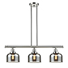 This item: Large Bell Polished Nickel Three-Light LED Island Pendant with Smoked Dome Glass