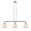 This item: Large Bell Polished Nickel Three-Light LED Island Pendant with Matte White Cased Glass