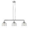 This item: Large Bell Polished Nickel Three-Light LED Island Pendant