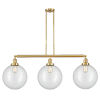 This item: Franklin Restoration Satin Gold 44-Inch Three-Light Island Chandelier with Clear Glass Shade