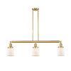 This item: Franklin Restoration Satin Gold 38-Inch Three-Light Island Chandelier with Matte White Glass Shade