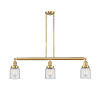 This item: Franklin Restoration Satin Gold 38-Inch Three-Light LED Island Chandelier with Clear Glass Shade