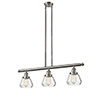 This item: Fulton Brushed Satin Nickel Three-Light LED Island Pendant with Clear Sphere Glass