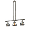 This item: Fulton Brushed Satin Nickel Three-Light Island Pendant with Smoked Sphere Glass