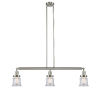 This item: Franklin Restoration Brushed Satin Nickel 39-Inch Three-Light LED Island Chandelier with Clear Canton Shade and Wire