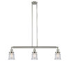 This item: Franklin Restoration Brushed Satin Nickel 39-Inch Three-Light Island Chandelier with Seedy Canton Shade and Wire
