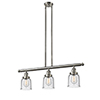 This item: Small Bell Brushed Satin Nickel Three-Light LED Island Pendant with Seedy Bell Glass