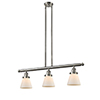 This item: Small Cone Brushed Satin Nickel Three-Light LED Island Pendant with Matte White Cased Cone Glass