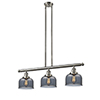 This item: Large Bell Brushed Satin Nickel Three-Light LED Island Pendant with Smoked Dome Glass