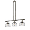 This item: Large Bell Brushed Satin Nickel Three-Light LED Island Pendant with Seedy Dome Glass