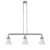 This item: Bellmont Brushed Satin Nickel Three-Light LED Adjustable Island Pendant with Seedy Glass