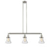 This item: Bellmont Brushed Satin Nickel Three-Light Adjustable Island Pendant with Seedy Glass