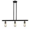 This item: Bare Bulb Black Antique Brass 36-Inch Three-Light LED Island Pendant