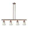 This item: Bellmont Antique Copper Four-Light Island Pendant with Seedy Hourglass Glass