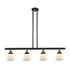 This item: Small Cone Black Antique Brass Four-Light Island Pendant with Matte White Cased Cone Glass