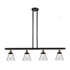 This item: Small Cone Black Antique Brass Four-Light Island Pendant with Clear Cone Glass