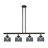 This item: Large Bell Black Antique Brass Four-Light LED Island Pendant with Smoked Dome Glass