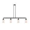 This item: Franklin Restoration Matte Black 51-Inch Four-Light LED Island Chandelier with Small Matte White Canton Shade and Wire