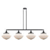 This item: Franklin Restoration Matte Black 54-Inch Four-Light LED Island Chandelier