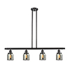 This item: Small Bell Oiled Rubbed Bronze Four-Light Island Pendant with Smoked Bell Glass