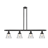 This item: Small Cone Oiled Rubbed Bronze Four-Light Island Pendant with Clear Cone Glass