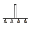 This item: Small Cone Oiled Rubbed Bronze Four-Light LED Island Pendant with Smoked Cone Glass