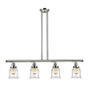 This item: Canton Polished Nickel Four-Light LED Island Pendant with Clear Bell Glass
