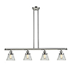This item: Small Cone Polished Nickel Four-Light LED Island Pendant with Clear Cone Glass