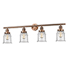 This item: Canton Antique Copper Four-Light LED Bath Vanity with Seedy Bell Glass