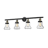 This item: Bellmont Black Antique Brass Four-Light LED Bath Vanity with Seedy Hourglass Glass