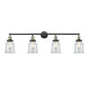 This item: Canton Black Antique Brass Four-Light LED Bath Vanity with Clear Glass
