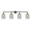 This item: Stanton Black Antique Brass Four-Light LED Bath Vanity