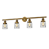 This item: Small Bell Brushed Brass Four-Light LED Bath Vanity with Clear Bell Glass