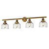 This item: Large Bell Brushed Brass Four-Light LED Bath Vanity with Clear Dome Glass