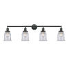 This item: Franklin Restoration Matte Black 42-Inch Four-Light Bath Vanity with Clear Canton Shade