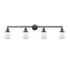 This item: Franklin Restoration Oil Rubbed Bronze 11-Inch Four-Light LED Bath Vanity with Matte White Small Canton Shade