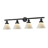 This item: Large Cone Oiled Rubbed Bronze Four-Light Bath Vanity with Matte White Cased Cone Glass