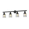 This item: Small Bell Oiled Rubbed Bronze Four-Light LED Bath Vanity with Clear Bell Glass