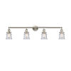 This item: Franklin Restoration Brushed Satin Nickel 42-Inch Four-Light LED Bath Vanity with Seedy Canton Shade