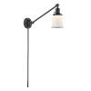 This item: Franklin Restoration Oil Rubbed Bronze Eight-Inch One-Light Swing Arm Wall Sconce with Small Matte White Canton Shade and Molded Plug and Wire