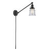 This item: Franklin Restoration Oil Rubbed Bronze 25-Inch One-Light Swing Arm Wall Sconce with Small Seedy Canton Shade and Molded Plug and Wire