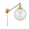 This item: Franklin Restoration Satin Gold 10-Inch One-Light Swing Arm Wall Sconce with Clear Glass Shade