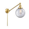 This item: Franklin Restoration Satin Gold 25-Inch One-Light Swing Arm Wall Sconce with Clear Large Beacon Shade and Molded Plug