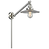 This item: Halophane Brushed Satin Nickel 25-Inch LED Swing Arm Wall Sconce with Halophane Cone Glass