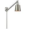 This item: Addison Brushed Satin Nickel 25-Inch LED Swing Arm Wall Sconce