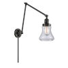 This item: Franklin Restoration Matte Black 30-Inch One-Light Swing Arm Wall Sconce with Clear Bellmont Shade