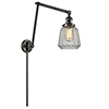 This item: Chatham Oiled Rubbed Bronze 30-Inch LED Swing Arm Wall Sconce with Clear Fluted Novelty Glass