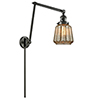 This item: Chatham Oiled Rubbed Bronze 30-Inch One-Light Swing Arm Wall Sconce with Mercury Fluted Novelty Glass